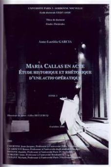 Garcia, Anne-Laetitia - Maria Callas en Acte