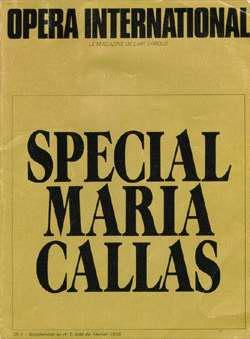 Mancini, R., R. Celletti, G. Gualerzi etc. - Special Maria Callas