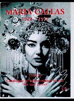 Burr, George - Maria Callas 1924-1977