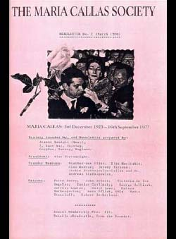 Handzic, Jeanne (Ed.) - The Maria Callas Society