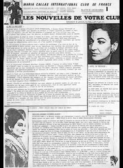 Dupays, Guy (Ed.) - Maria Callas International Club de France