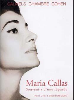 Calmels. Chambre. Cohen - Maria Callas. Souvenirs...