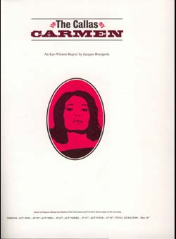 Bourgeois, Jacques - The Callas Carmen