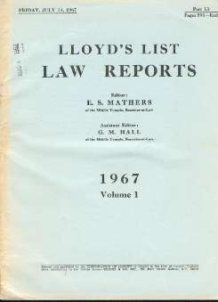 Lloyd's Law Report (Edit.) - Onassis and Calageropoulos v. Vergottis