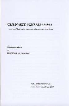 D'Alessandro, Roberto - Vissi D'Arte, Vissi per Maria