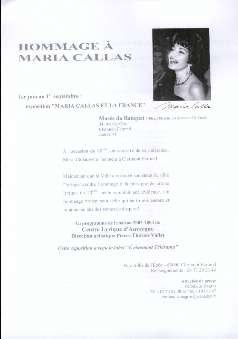 Musée Ranquet (Ed.) - Homage à Maria Callas.