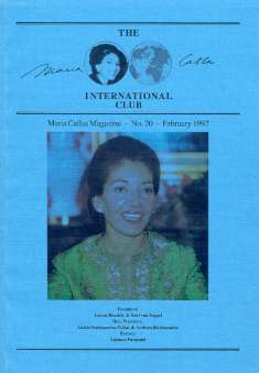 Zoggel, Karl H. van & Pettitt, J. - The Maria Callas International Club