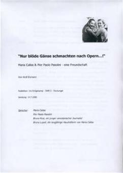 Eismann, Wolf - Nur blöde Gännse schmachten...